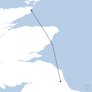 Map of flight plan from EGNT to EGPC