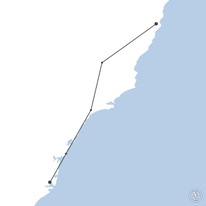 Map of flight plan from YSSY to YPMQ