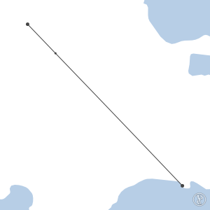 Map of flight plan from MDST to MDSD