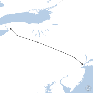 Map of flight plan from KEWR to KBUF