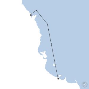 Map of flight plan from YBTL to YBCS
