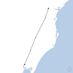 Map of flight plan from SBPA to SBBI