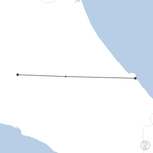 Map of flight plan from MRLM to MROC