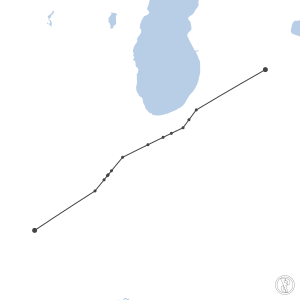 Map of flight plan from KSTL to KLAN