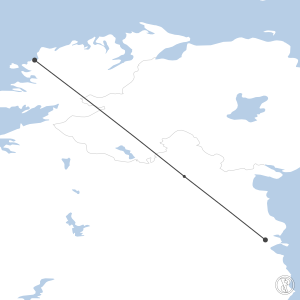Map of flight plan from EIDL to EIDW
