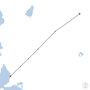 Map of flight plan from YWHC to YPAD