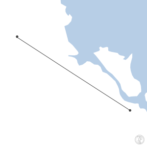 Map of flight plan from YBRK to YGLA