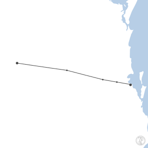 Map of flight plan from YMLS to YBBN