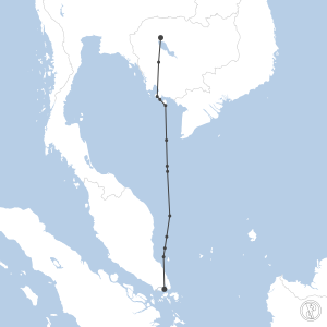 Map of flight plan from WSSS to VDSR