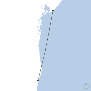 Map of flight plan from SBPS to SBSV