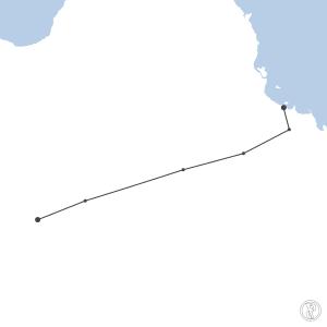 Map of flight plan from YOSB to YBTL