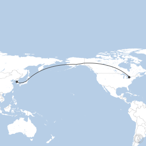 Map of flight plan from CYYZ to RKSI