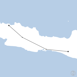 Map of flight plan from WAHH to WIII