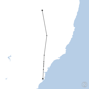 Map of flight plan from YIVL to YSSY