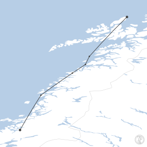 Map of flight plan from ENAN to ENNM