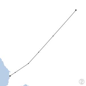 Map of flight plan from YPAD to YBHI
