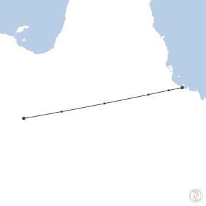 Map of flight plan from YBMA to YBTL